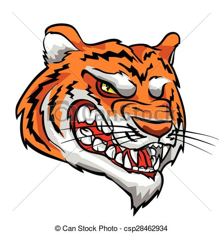 450x470 Tiger Mascot, Team Label Design. Tiger Mascot, Team Label Design