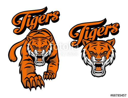 500x385 Tiger Mascot Stock Image And Royalty Free Vector Files On Fotolia
