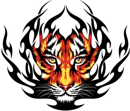 430x368 Tiger Pattern Vector Design Free Vector Download (18,994 Free