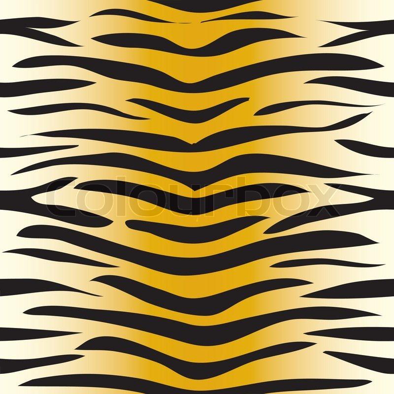 800x800 Vector Illustration Of Tiger Seamless Pattern Stock Vector