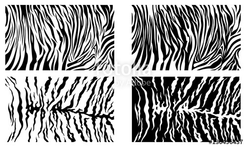 500x299 Black Tiger Stripes Vector Pattern Background Stock Collection