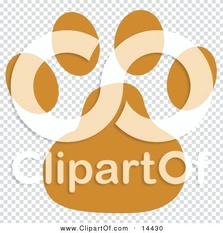 450x470 Orange Paw Print Clip Art Big Cat Vector Of A Tiger Paw Print In
