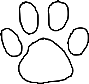 300x283 Tiger Paw Print. Paw Print With Tiger Claw Inside Clipart Vector