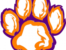 220x165 Purple Tiger Paw Tiger Paw White Orange Purple Clip Art