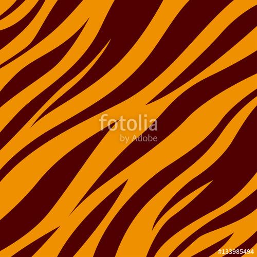 500x500 Tiger. Background Tiger Skin. Black Stripes On An Orange