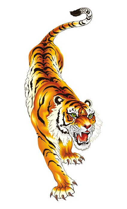 424x700 Tiger Vector Wall Decal We Live To Change