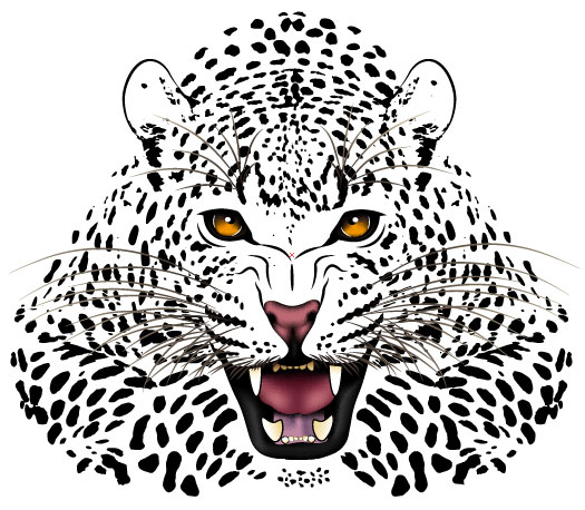 525x458 Set Of Tiger Vector Picture Art 18 Free Download