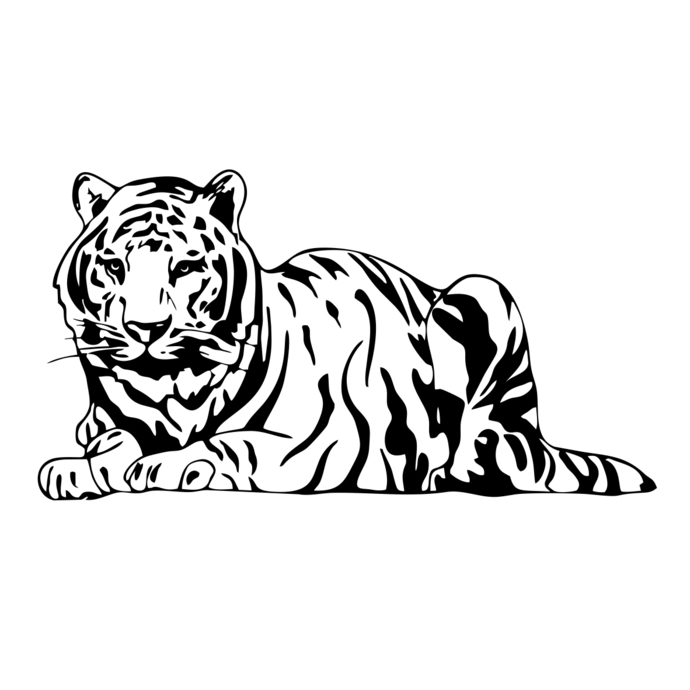 690x690 Bengal Tiger Svg, Dxf, Eps, Png, Cdr, Ai, Pdf By Vectordesign