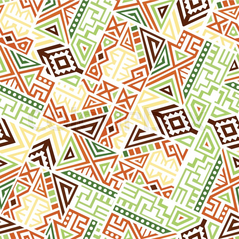 800x800 Creative Ethnic Style Square Seamless Pattern. Unique Geometric