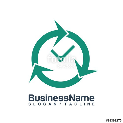 500x500 Time Clock Vector Logo Icon Stock Image And Royalty Free Vector
