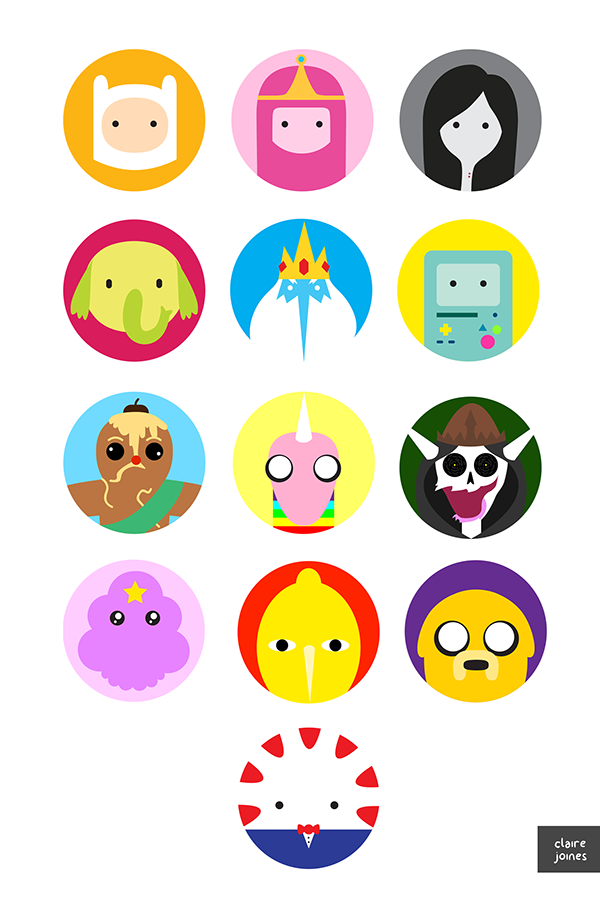 600x900 Adventure Time Vector Icons On Behance