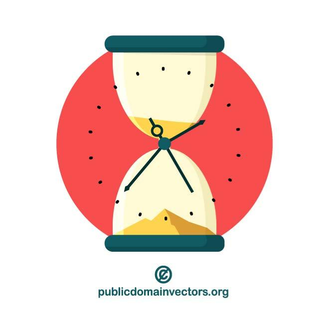 660x660 Hourglass Time Vector