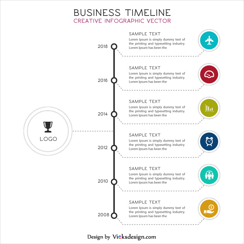800x800 Business Timeline Creative Info Graphic Vector, Company Strategy