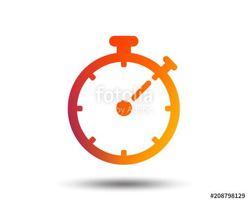 500x405 Timer Sign Icon. Stopwatch Symbol. Blurred Gradient Design Element