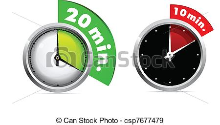 450x256 Set Of 10 And 20 Minutes Timer. Vector Illustration. Easy Ro Edit.