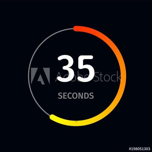 500x500 Countdown Timer Or Digital Counter Clock Timer Vector Flat Circle