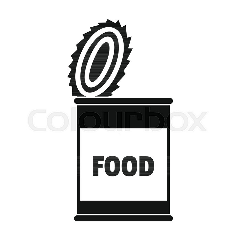 800x800 Food Tin Can Icon. Silhouette Illustration Of Food Tin Can Vector