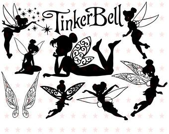 340x270 Tinkerbell Svg, Tinkerbell Silhouet, Tinker Bell Svg Silhouet