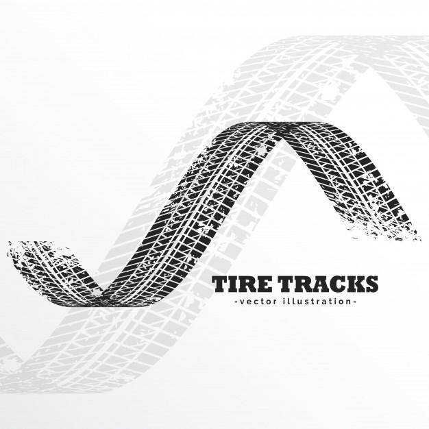 626x626 Grunge Black Tire Tracks Vector Free Download