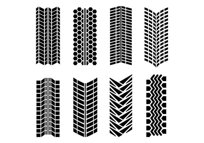 700x490 Tire Marks Vector Pack