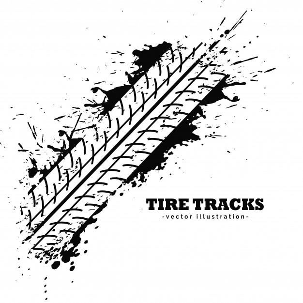 626x626 Tire Tracks Vector Free Download
