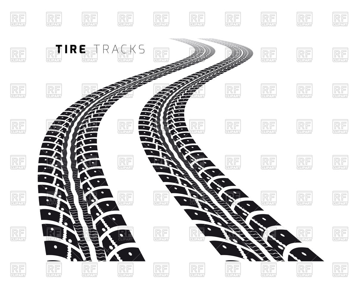 1200x955 Tire Tracks Vector Image Vector Artwork Of Objects Sermax55
