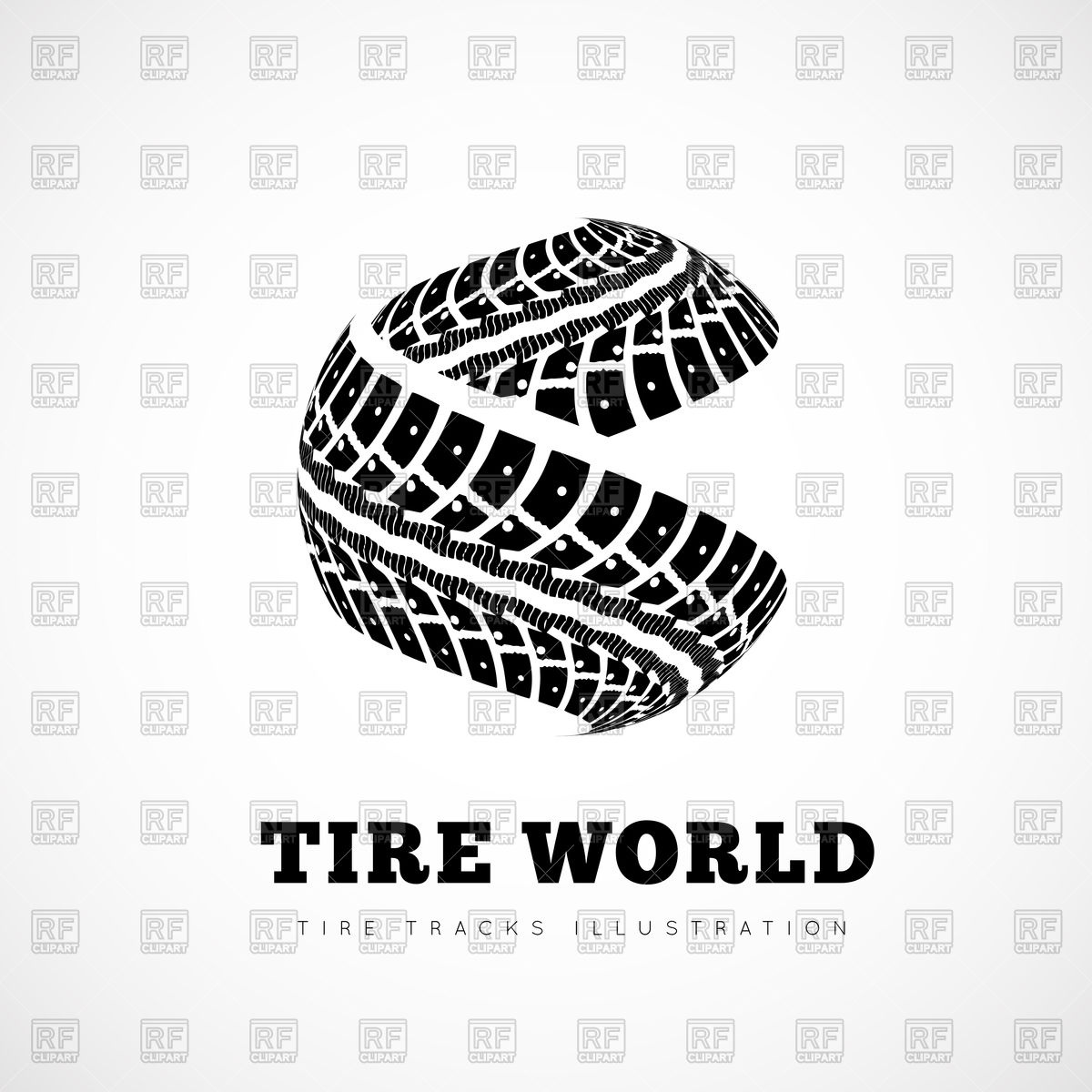 1200x1200 Tire Tracks On White Background Vector Image Vector Artwork Of