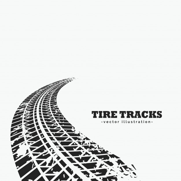 626x626 Dirty Tire Tracks Fading Into The Horizon Vector Free Download