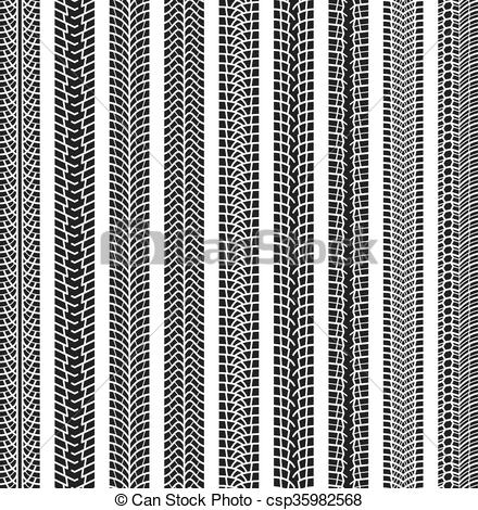 440x470 Collection Textures Of Six Vector Tire Tracks, Tire Marks, Tire