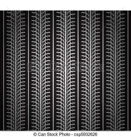 450x470 Repeating Tire Tracks Vector Black Background Illustration.
