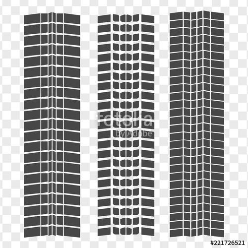 500x500 Black Tire Tracks Wheel Car. Road Texture Automobile Track Pattern