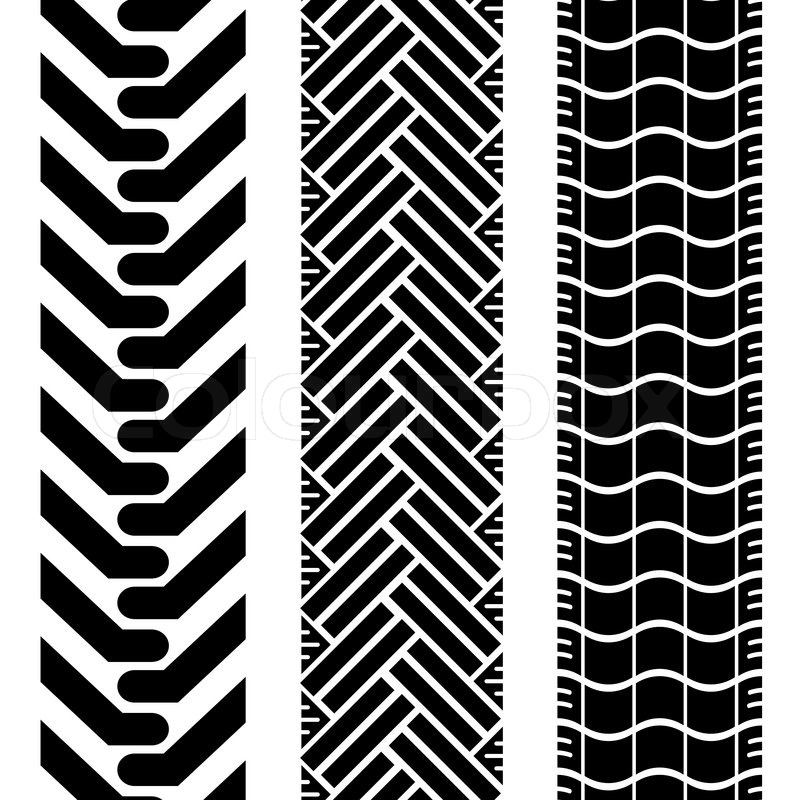 800x800 Collection Of Tire Treads In Black And White With Repeat Pattern