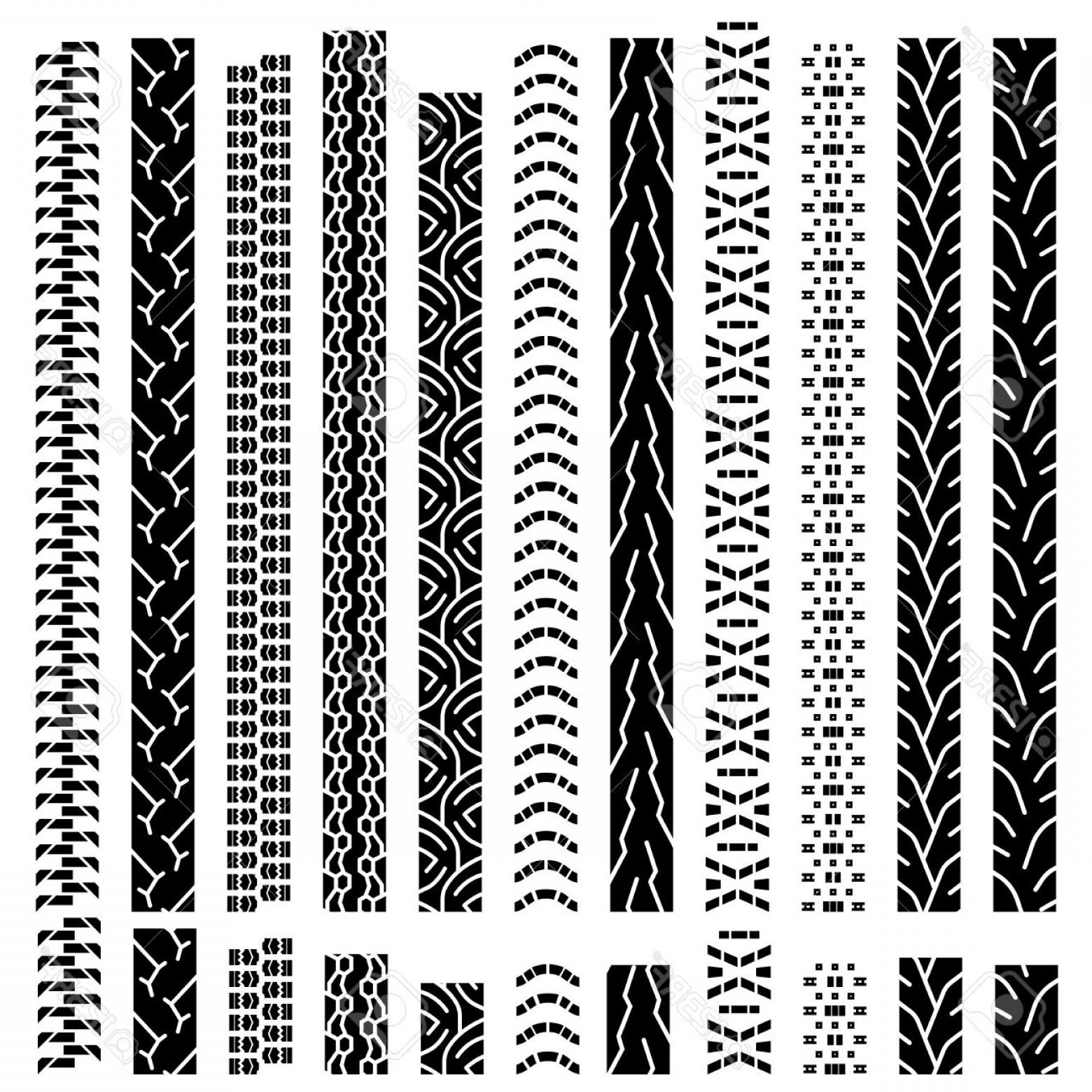 1560x1560 Photostock Vector Collection Textures Of Vector Tire Tracks Tire