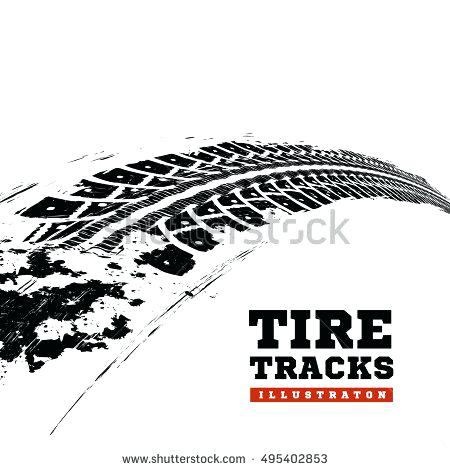 450x470 Tire Track Clip Art Tire Tracks In Infinity Form Muddy Tire Track
