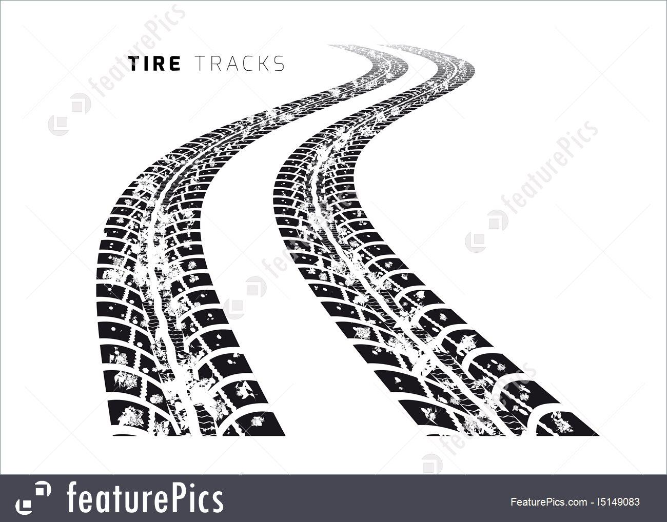1300x1018 Tire Tracks Vector