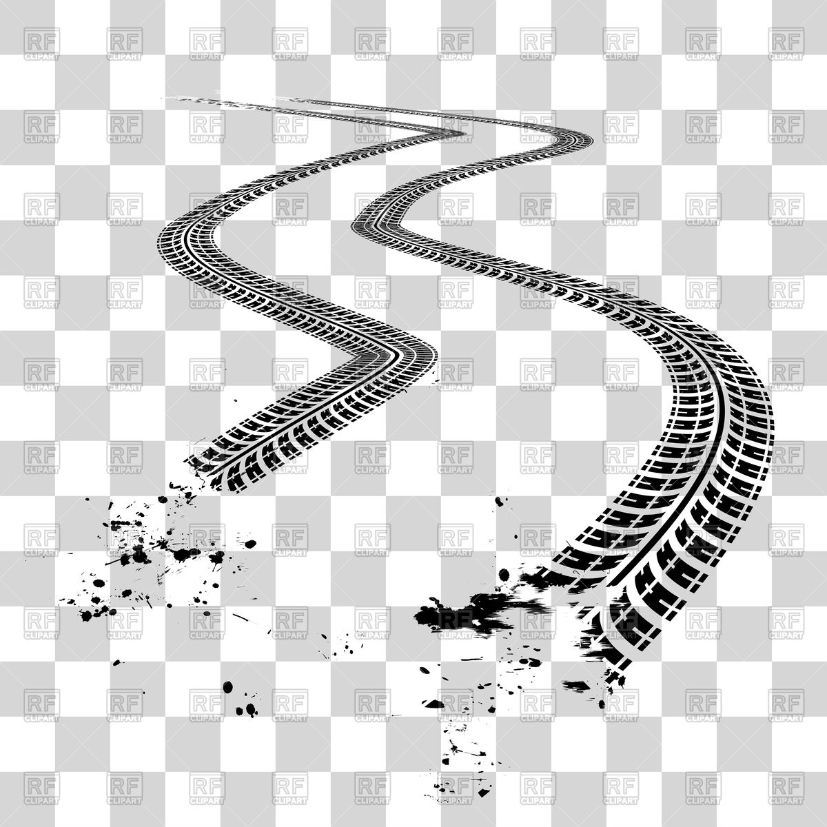 1200x1200 Tire Tracks Vector Image Vector Artwork Of Backgrounds, Textures
