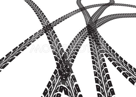 562x400 Tire Tracks Vector By Maxim Pavlov