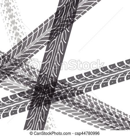 450x470 Tire Tracks Vector. Tire Tracks. Vector Illustration On White