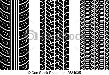 450x310 Tire Tracks. Vector Tire Tracks (Repeating Top To Down)