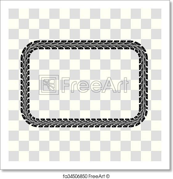 561x581 Free Art Print Of Tire Tracks Vector. Tire Tracks Frame Set