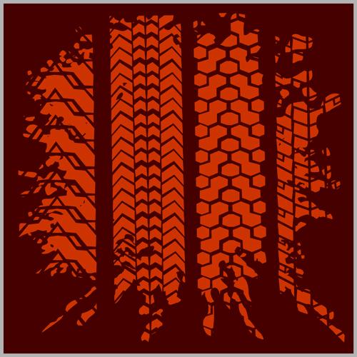 500x500 Grunge Tire Tracks Design Vector 07 Free Download