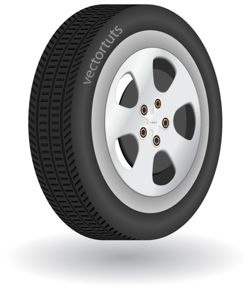 517x600 How To Make A Detailed 3d Vector Tire In Illustrator