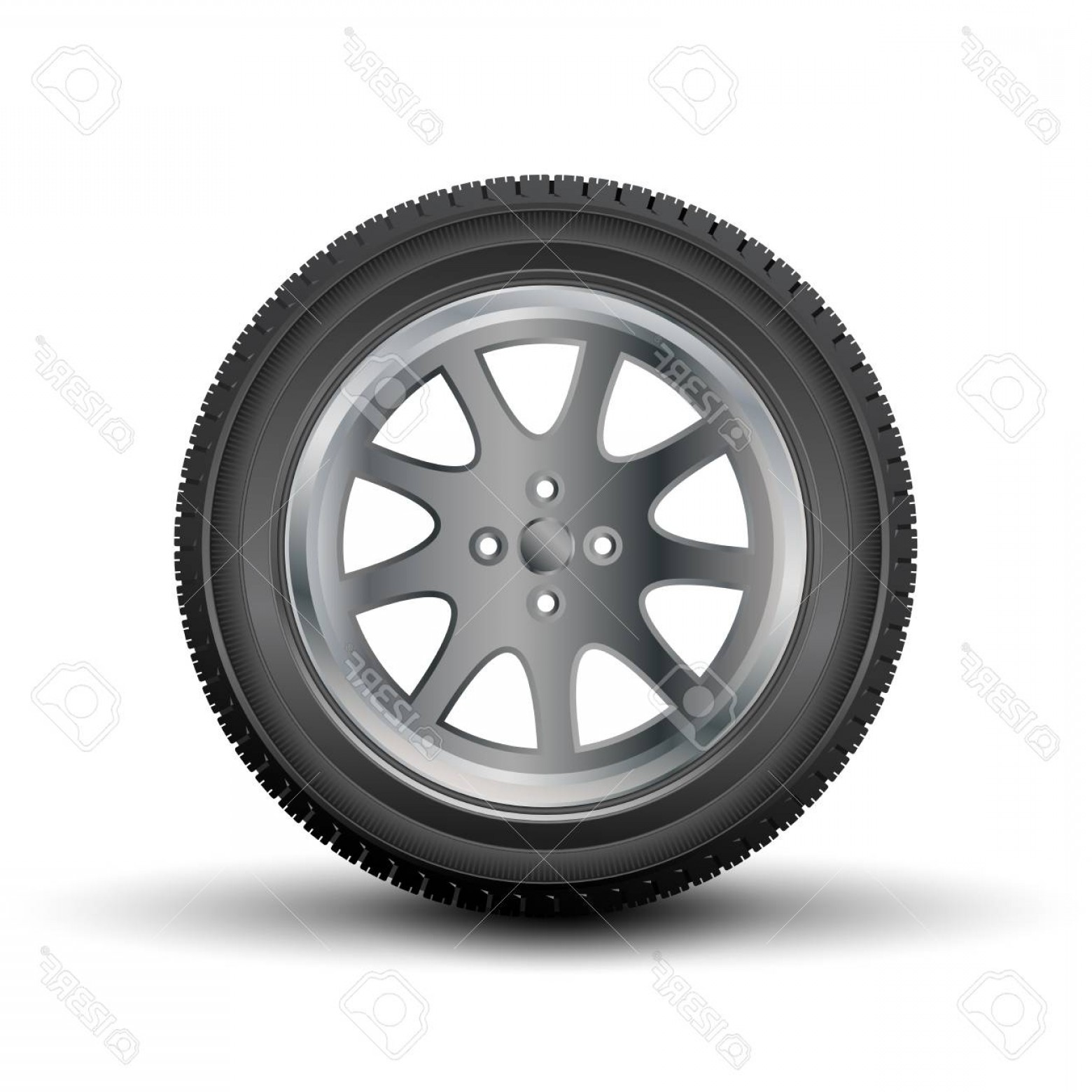 1560x1560 Photocar Tire With A Disk On A White Background Vector Lazttweet