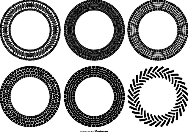632x443 Round Tire Track Shapes Free Vector Download 375717 Cannypic