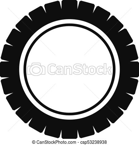 450x470 Single Tire Icon, Simple Style. Single Tire Icon. Simple