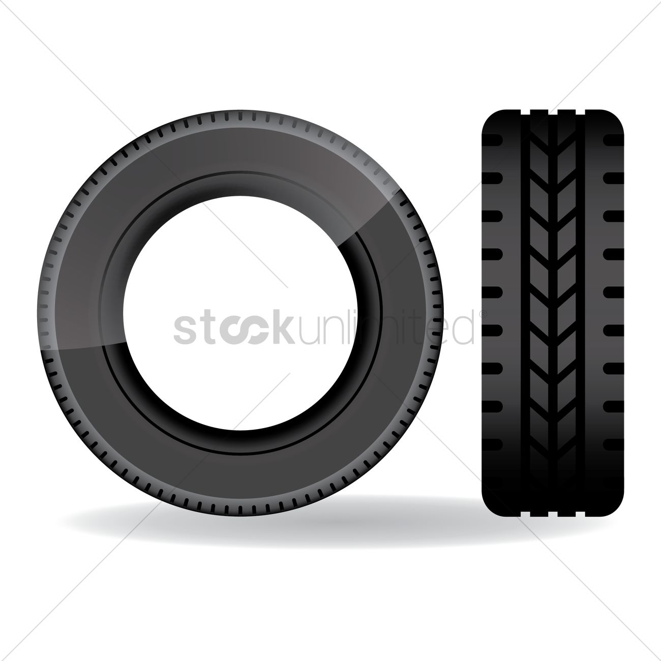 1300x1300 Tire Vector Image