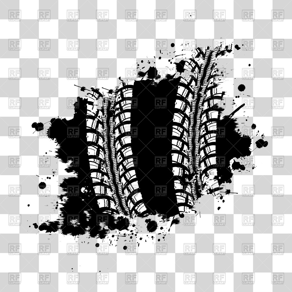 1200x1200 Tire Track Grunge Background Vector Image Vector Artwork Of