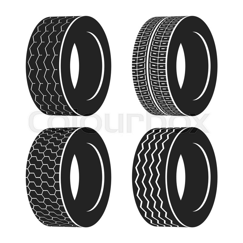 800x800 Bus Rubber Tire For Wheel, Truck Or Auto Tyre. Isolated Icon Of