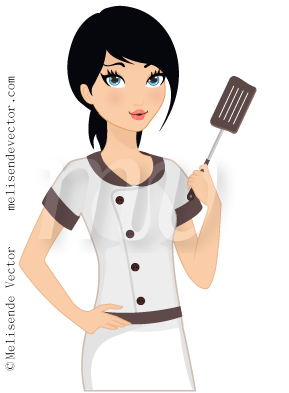 289x393 Woman Chef Tired Illustration, Woman Chef Tired Vector, Woman Chef