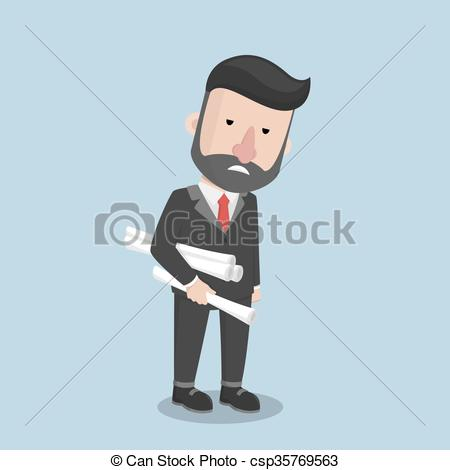 450x470 Business Man Very Tired.